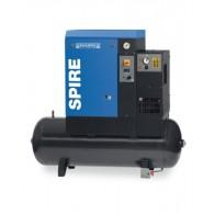 Compresseur rotatif à vis / réservoir horizontal et sécheur - Spire E1510/500