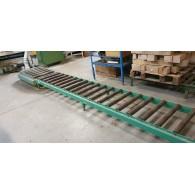 TRAIN DE ROULEAUX LIBRES AU SOL Largeur 600 mm.