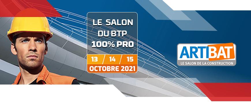 GEDIMO présent au salon ARTIBAT à Rennes du 13 au 15 Octobre 2021