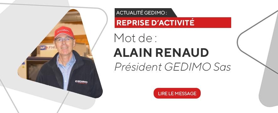 Actualité GEDIMO - Reprise activité